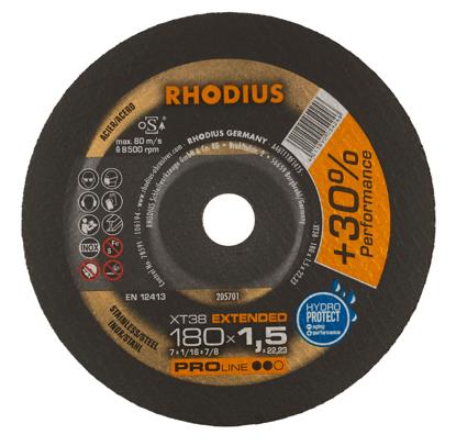 Imagen de DISCO CORTE INOX 7X1.5MM PLANO RHODIUS 205701 XT38