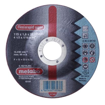 Imagen de DISCO CORTE METAL # 616219 (4.1/2X1/16)CONC(METABO