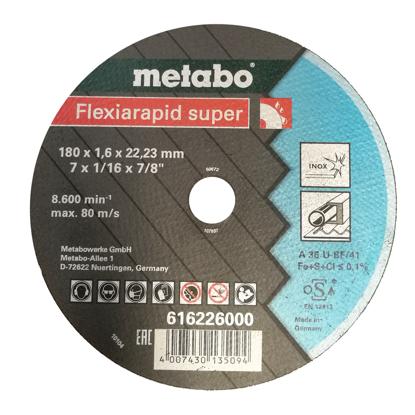 Imagen de DISCO CORTE METAL # 616226 (7X1/16X7/8)LISO(METABO