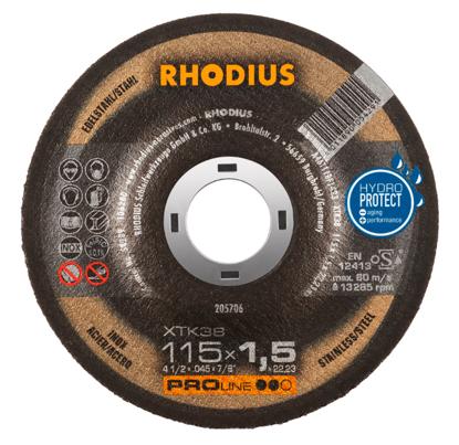 Imagen de DISCO CORTE INOX 4.1/2X1.5MM  RHODIUS XTK38 205706
