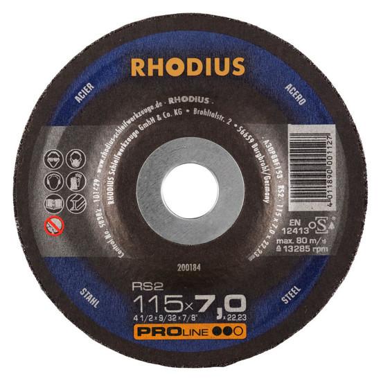 Imagen de DISCO ESMERIL METAL 4.1/2X1/4 9/32 RHODIUS 200184