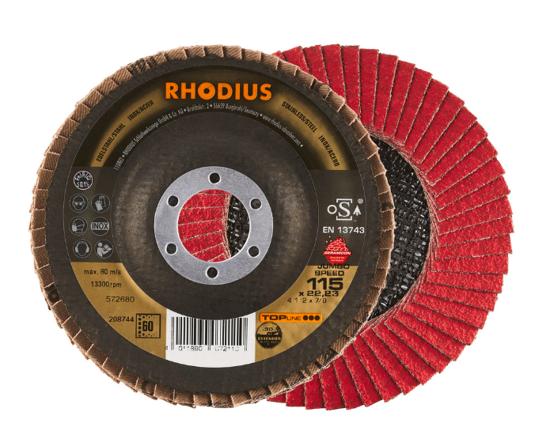 Imagen de DISCO FLAP INOX CERAMICO 4.1/2 G#60 RHODIUS 208744