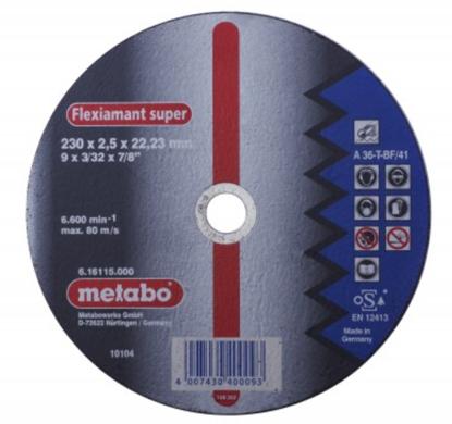 Imagen de DISCO CORTE METAL # 616115 (9X3/32X7/8)LISO(METABO